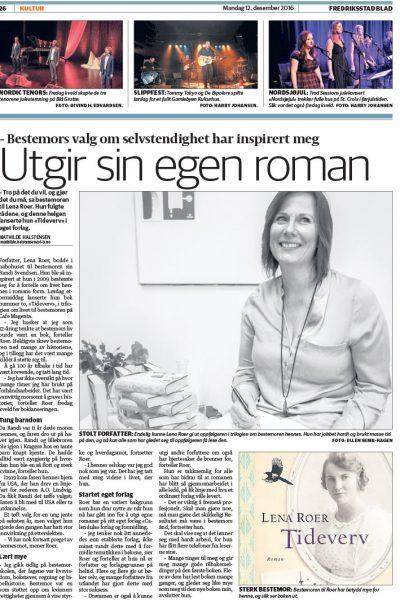 Artikkel i Fredriksstad Blad 12.12.2016